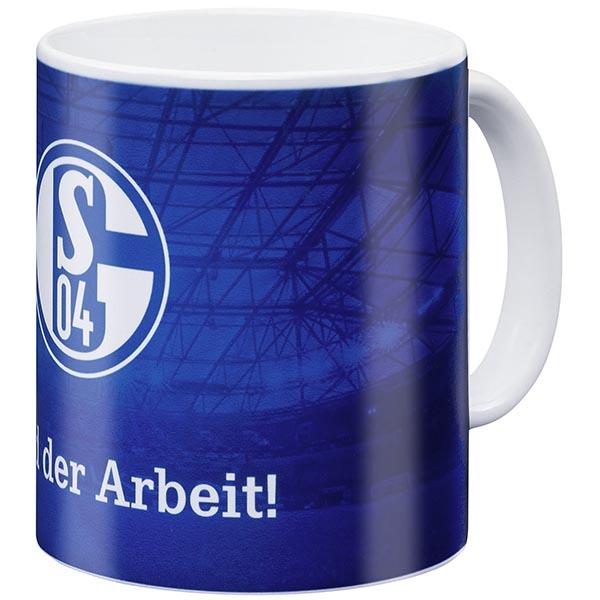 FC Schalke 04 Tasse Held der Arbeit blau