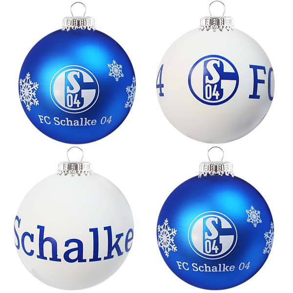FC Schalke 04 Christbaumkugeln 4er-Set