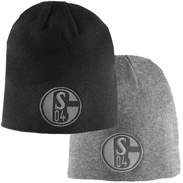 FC Schalke 04 Wendemütze schwarz grau