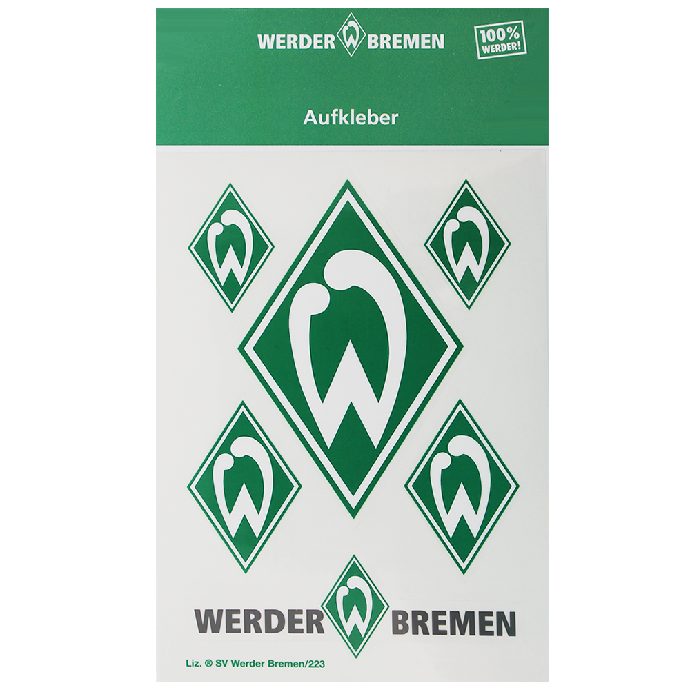 SV Werder Bremen Aufkleber Werder Raute 6er Set