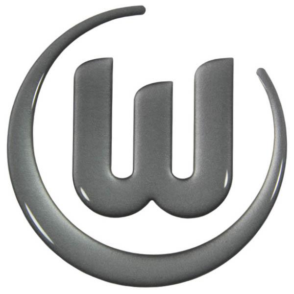 VfL Wolfsburg Aufkleber Logo 3D silber